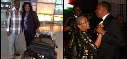 When Raila and Uhuru kissed their wives in public (photos)