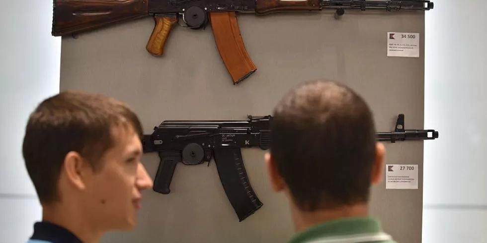 Sheremetyevo Airport has a store that sells Kalashnikov rifles!