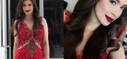 Sunshine Cruz gives us beauty queen vibes with her jaw-dropping red gown