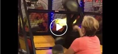 Incredible Lola shoots hoops like a pro Basketball player