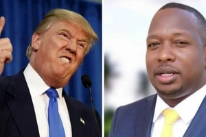 Nairobi senator, Mike Sonko sends a message to Donald Trump after he was declared president