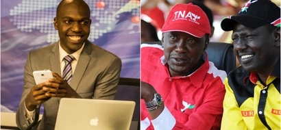 Has NTV's Larry Madowo joined Uhuru Kenyatta's Jubilee Party? This document suggests so