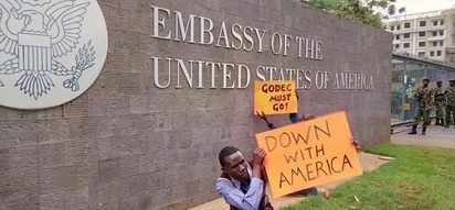 Godec must go! NASA supporters demonstrate outside US Embassy in Gigiri
