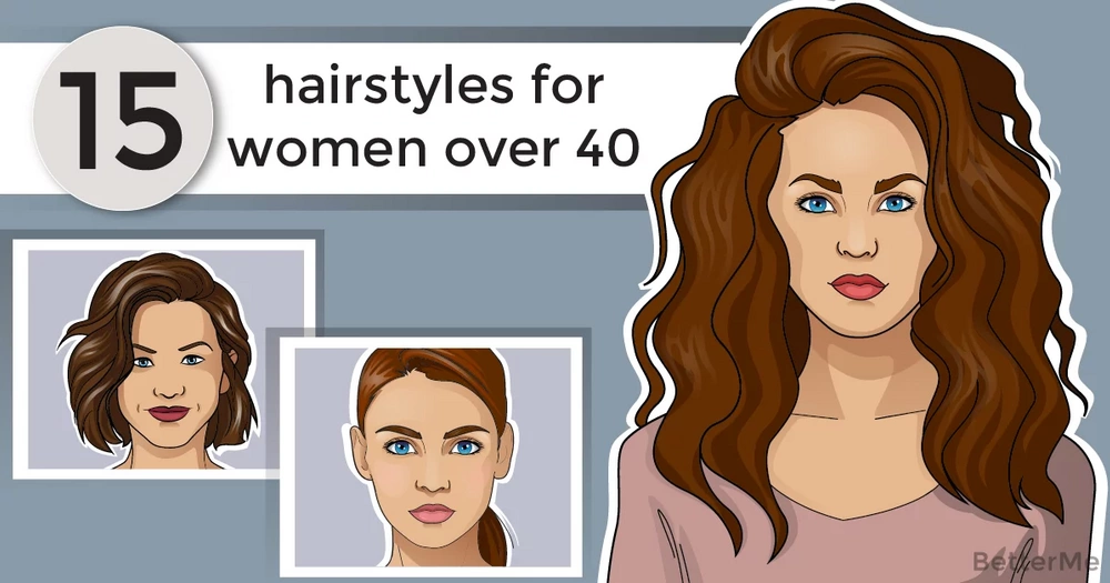 15 hairstyles for women over 40, from long to short