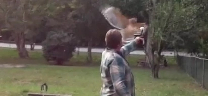Badass Opens Beer By Luring A Hawk To Attack It