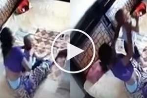 VIDEO: Man sees his WIFE trying to KILL & strangle their 1-year-old son!