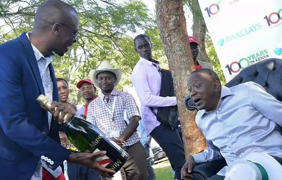 After declaring himself president, Sonko shares a photo of himself partying hard with Uhuru Kenyatta
