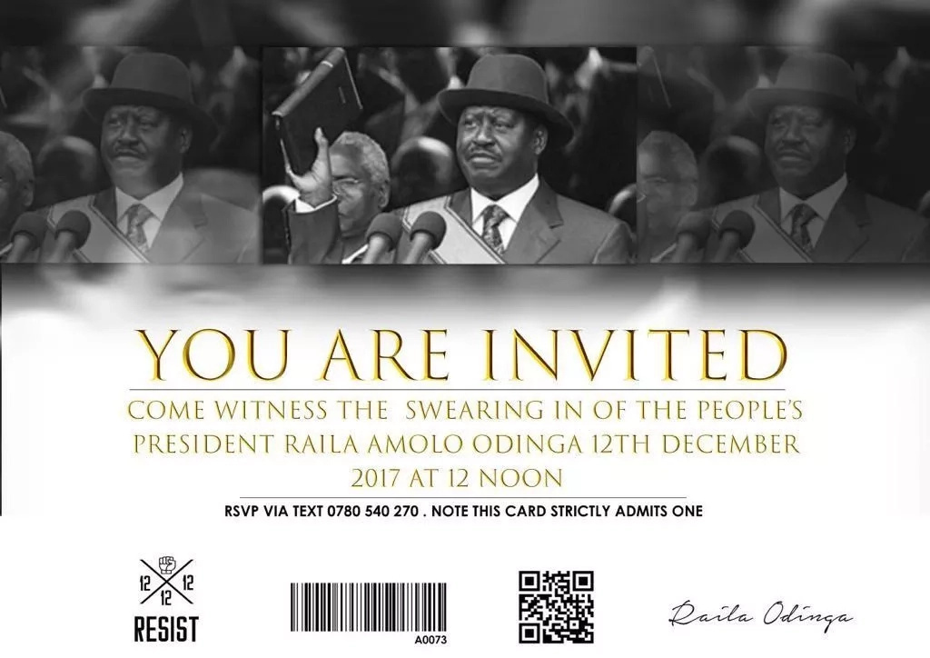 Attendees to be vetted for Raila Odinga's swearing-in
