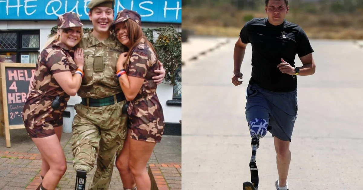 AMPUTEE soldier who lost his leg in battle joins troops training in Kenya despite his disability (photos)