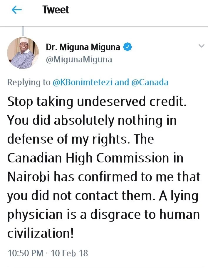You did not fight for my human rights – Miguna shuts down Boni Khalwale days after his deportation