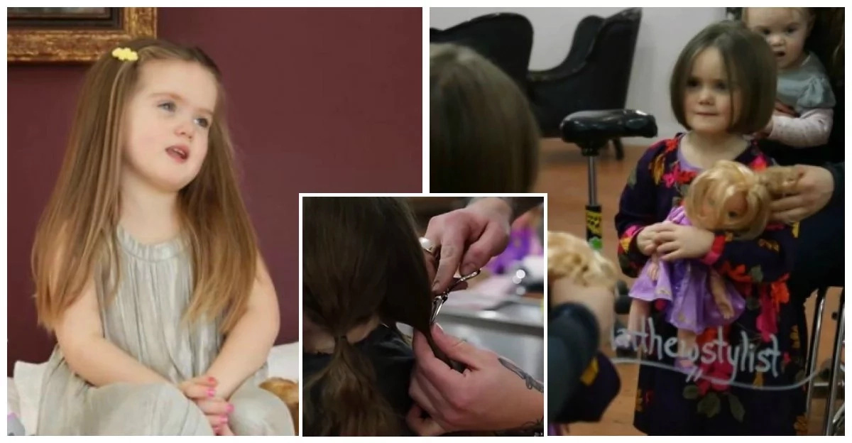 Adorable 3-year-old Girl who cut her Rapunzel hair to help kids with cancer inspires people