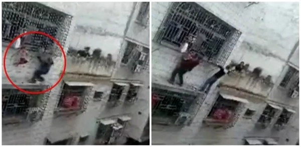 See 2 heroic men save toddler hanging by her NECK from 4th-story window (photos, video)