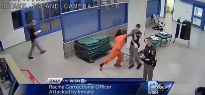 CCTV Captures Violent Inmate Sucker Punching A Correctional Officer