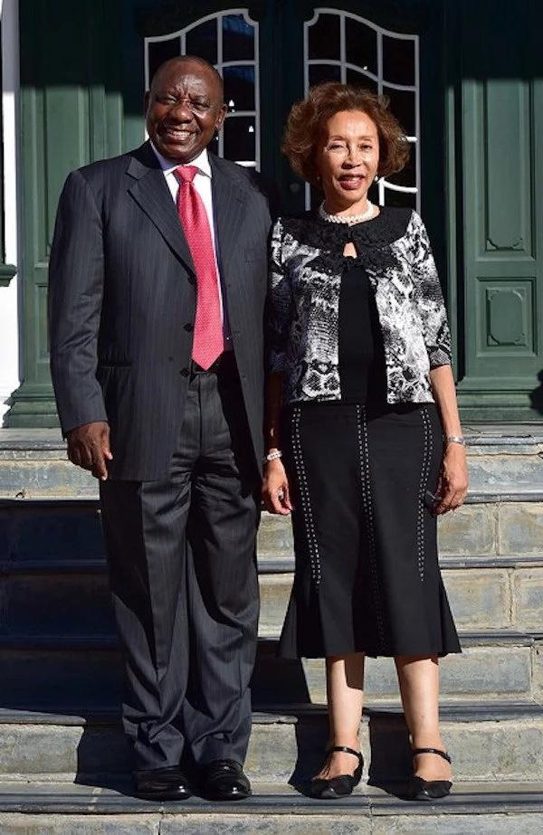 President Cyril Ramaphosa with First Lady Tshepo Motsepe. Source: Google
