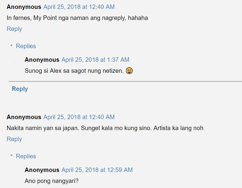 Nag-yayabang daw? Netizen tells Alex Gonzaga to use google