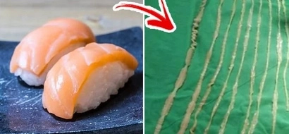 This girl ate sashimi. She regretted doing so after she finds 8-feet-long tapeworm in her tummy.