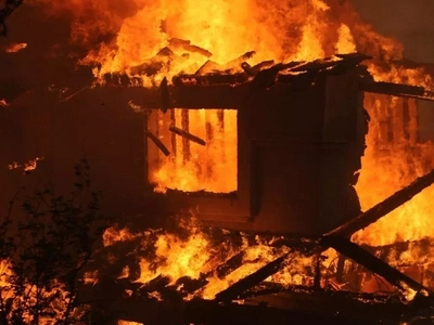 Man burns wife and children to death after locking them inside house at night