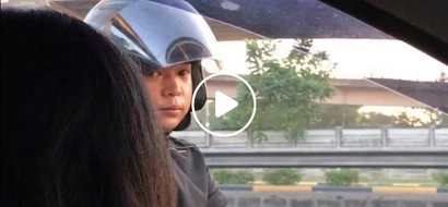 """Drivers beware! Netizen claims that this guy pretends to be an officer just for """"kotong"""""""