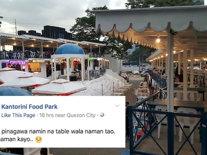 This food park doesn't have customers so here's what they posted online!