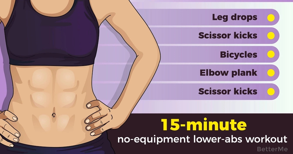 A 15-minute no-equipment lower-abs workout