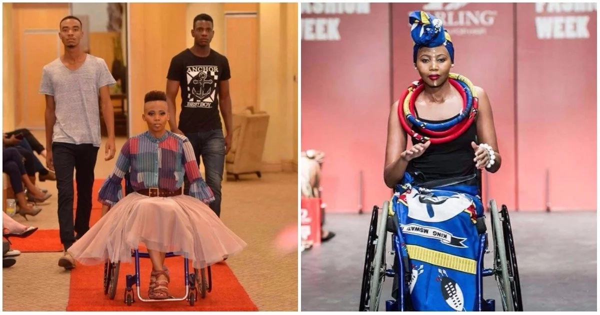 Image result for lebohang-monyatsi, the first african woman to model in wheel chair