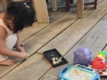 Jennica Garcia shares how Baby Mori play with stones that change from being 'ulam' to 'langgam'