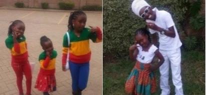 Picha 10 za kupendeza za mtangazaji maarufu 'Mbusi Deh' akiwa na mkewe na watoto wake watatu
