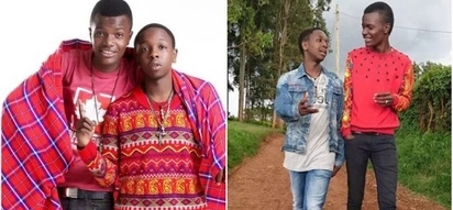 Machachari actors Baha and Govi's bromance goes off TV ,and TUKO.co.ke has photographic proof