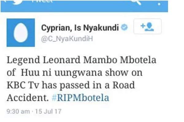 Why I said Leonard Mambo Mbotela was dead – controversial blogger