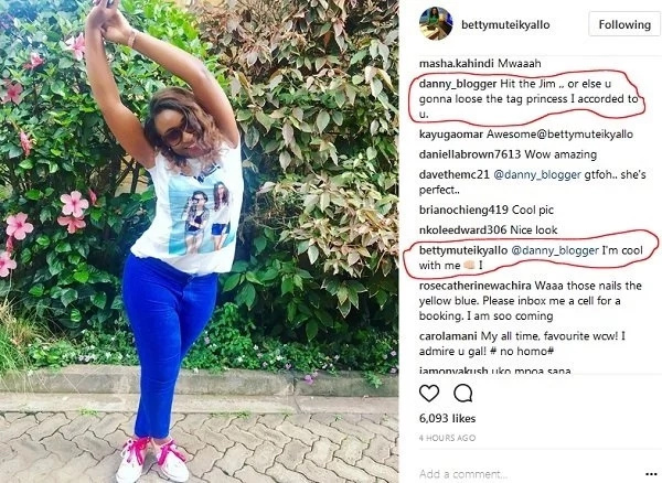 Some guy just asked KTN's Betty Kyalo to go to the gym, you need to see her reply