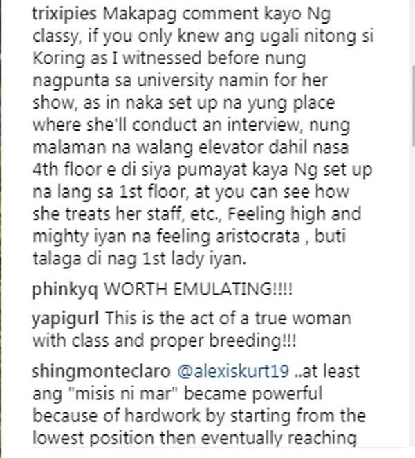 "Netizen ibinunyag ang ""high and mighty"" raw na ugali ni Korina Sanchez"