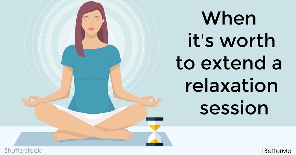 When it's worth to extend a relaxation session