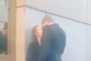 They Were Kissing Passionately, When His REAL Girlfriend Comes... (Video)