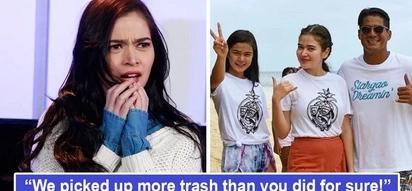 Di niya pinalampas ang maling pambibintang! Bela Padilla slams basher who insinuated she's not the type to pick up trash in Siargao