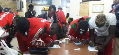 PHOTOS: Harambee Stars Players Jet Back Home