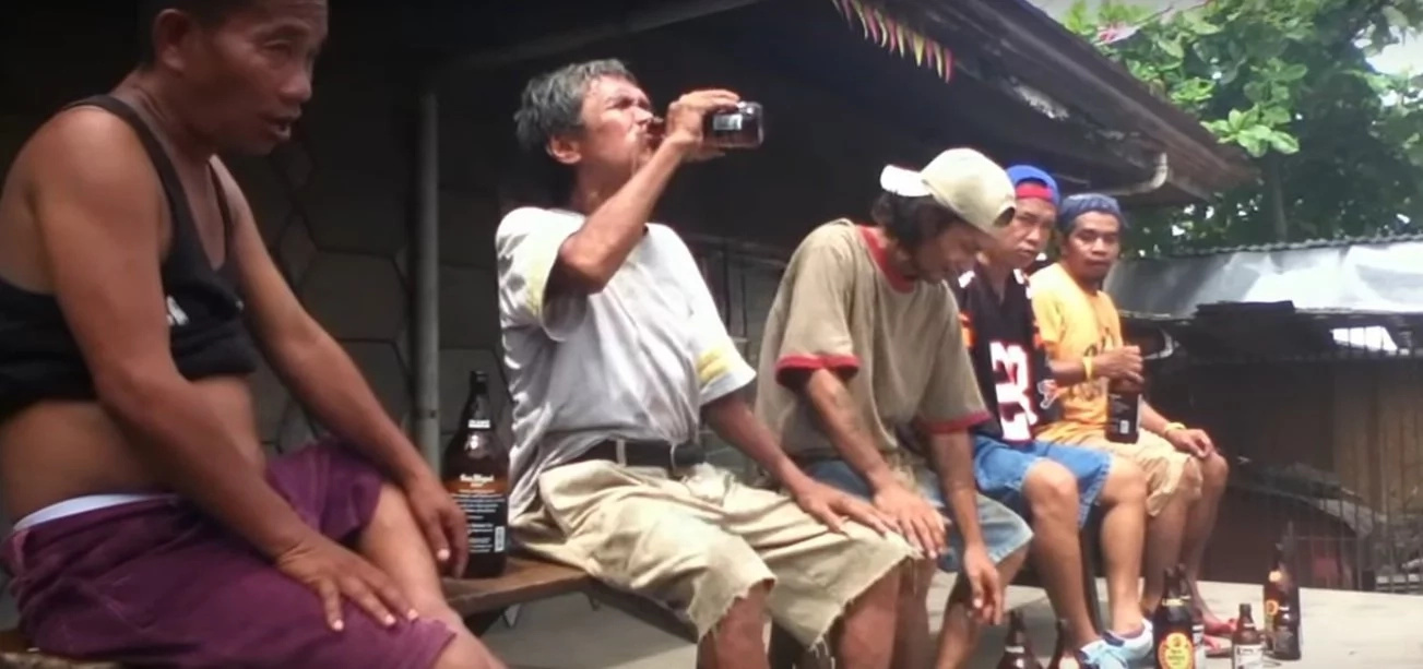 Cebuanos battle it out for this crazy beer drinking contest
