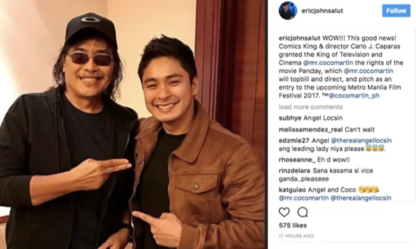 "Coco Martin paid his respects to FPJ's grave as filming for ""Panday"" movie starts"