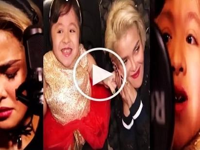 Pinay girl with disability and KZ Tandingan's powerful duet of 'Wag Ka Nang Umiyak' makes netizens cry