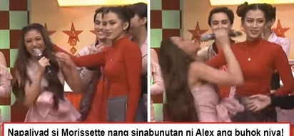 Sinabunutan niya talaga! Alex Gonzaga pulls Morissette's hair without hesitation after she belted out some high notes