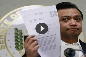 Scorned Trillanes waited for Duterte's promised bank records, and got tired waiting so he did this!