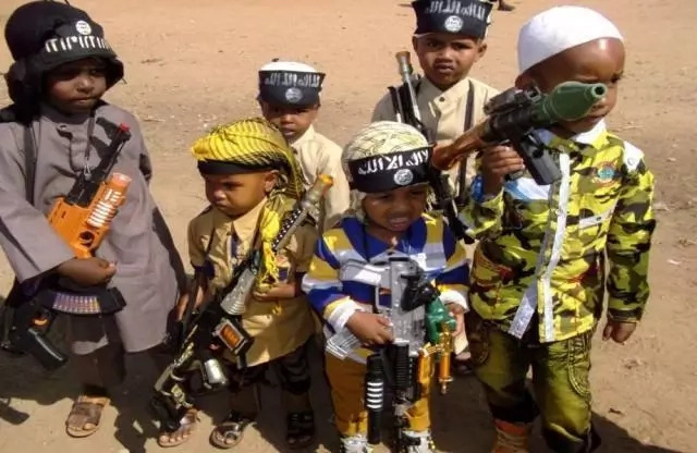 Terror group al-Shabaab reward children with toy guns