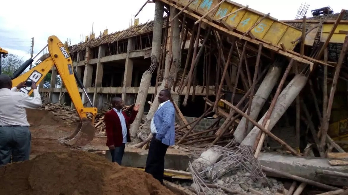 One injured as Stadium wall collapses