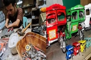 Nakaka-proud si Kuya! Dumaguete's disabled man shares amazing miniture vehicles