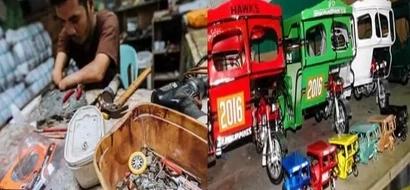 Nakaka-proud si Kuya! Dumaguete's disabled man shares amazing miniture vehicles