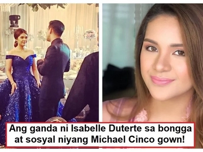 Ang bongga! Isabelle Duterte looks stunning on her Michael Cinco gown