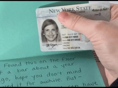 Woman's Lost ID Returned To Her One Year Later With A Hilarious Thank You Note