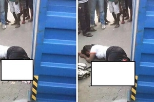 Metallic container crushed woman into half in a horrific accident (photos)