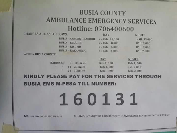 Busia county residents protest over shifty health service charges