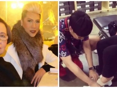 Ang sweet kay inay! Vice Ganda's thoughtful gesture to his mother while shoe shopping has got netizens swooning