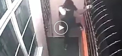 Pumalpak si kuya! Clumsy Pinoy thief's hilarious epic fail during burglary caught on CCTV